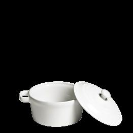 Olla individual blanca con tapa Ø 10 cm 25 cl