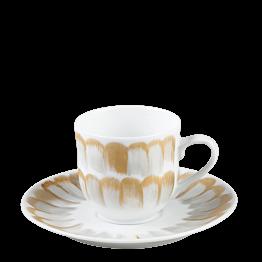 Taza y plato de café Plumas 12 cl