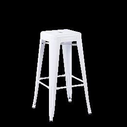 Taburete industrial  blanco Alt 76 cm