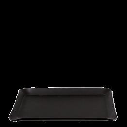 Plateau à main Soft noir 24 x 18 cm