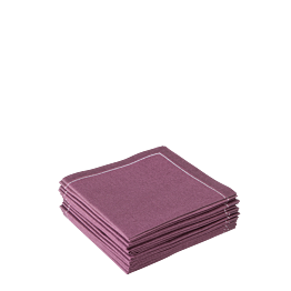 Servilletas de cóctel berenjena 20 x 20 cm (30 u.)