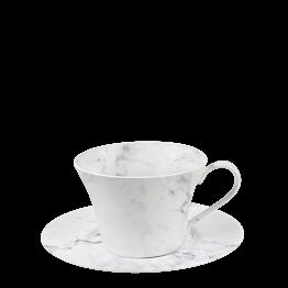 Taza y plato de café Mármol 14 cl