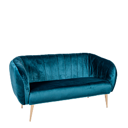 Sofá Julieta azul verde Prof. 78 cm – Largo 165 cm – Alt. 85 cm