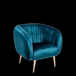 Sillón Julieta azul verde Prof. 78 cm – Largo 84 cm – Alt. 85 cm