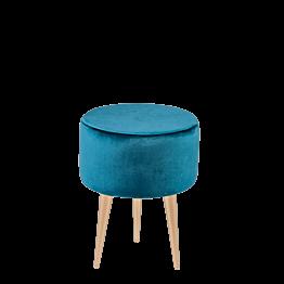 Puf Julieta azul verde Ø 35 cm – Alt. 44 cm