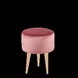 Puf Julieta rosa palo Ø 35 cm – Alt. 44 cm