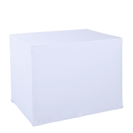Carro plegable con tapa blanca 90 x 70 cm – Alt. 72 cm