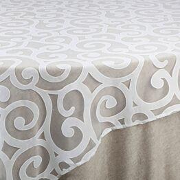 Cubre mantel Sevilla blanca 290 x 290 cm