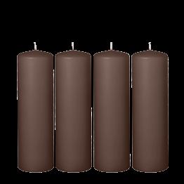 Lote de 4 cilindro moka H 20 cm Ø 6 cm