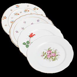 Platos Vintage con flores