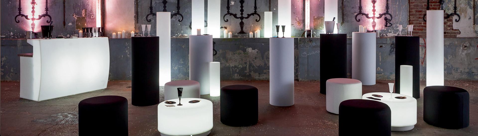 mobiliario luminoso